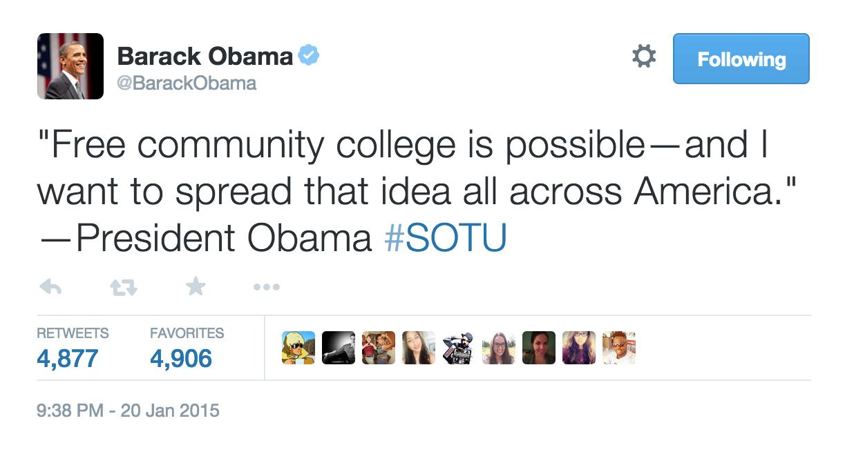 Obama Address Social Media Data Tweet